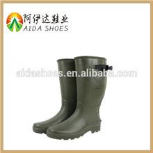 Impermeable de alto rendimiento de goma de neopreno con acero hombres del dedo del pie botas de goma