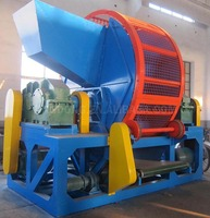 Durable using rubber cutting used tire shredder machine for sale