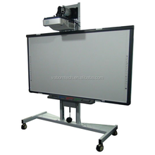 CCD interactive electronic whiteboard with stand, rollers or wheels