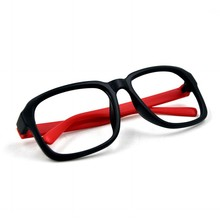 Fancy full square frame red temple optical glasses, china wholesale optical eyeglasses frame