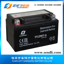 Professional supplier sealed activate motorcycle battery in china