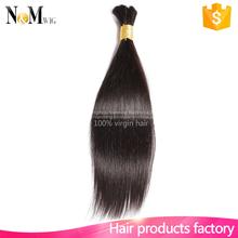 Fashion style Silky Straight Wave afro kinky human hair bulk fiber hair bulk