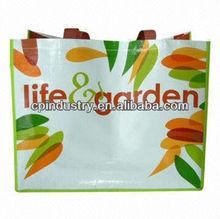 2014 pp Eco-Woven Yellow Tote Shopping Bag