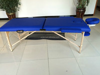 New! 2 section wooden massage table with accessory set
