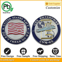 Gold/Silver Plating Custom Metal Coin For Company