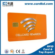 IC contact pvc business Smart card with 4C full color printing