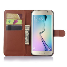 Flip Wallet With Credit Card Holder Leather Case Cover For Samsung Galaxy S6 edge plus edge+