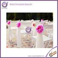 k5678 cheap organza purple chiffon white sash for wedding with buckle