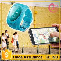 Good looking personal wrist watch gps tracer phone with two way communication supporting 2 family numbers