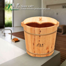 2015 hot sale cheap price wooden calf feet bucket, leg and foot massage function