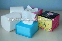 100%virgin cube box facial tissue with top grade
