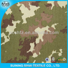 digital snow spandex twill printed T/C camouflage fabric