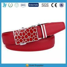 Automatic Buckle Lady Ratchet Leather Belts for Women Wholesale