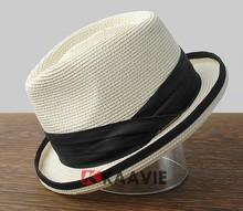 straw scala hats fashion fedora hat summer pork pie hat