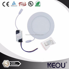 led panel light 9w Round cut size 130mm 3000-6500K