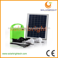 Solarbright rechargeable portable mini LED solar home system kit with mobile charger the house solar lighting system