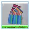 Lovely School custom colorful stripe pencil bag Stationery Bag