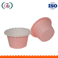 Sweet Pink Color PET Coated Paper Baking Cup Cake Cupcake Box