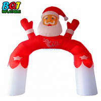Commerical Inflatable christmas santa claus Arch