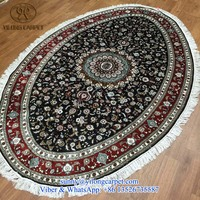 handknotted yilong 5x8ft oriental handamde persian oval table silk rugs and carpets