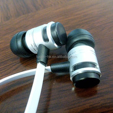 fashion china earphone silion earbuds with flat cable
