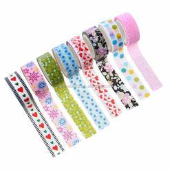10Rolls Mixed Beautiful Pattern printed Adhesive Washi Tape DIY Paper Tape Sticker