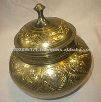Metallic Decorative Pot