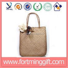 Cheapest price straw bag/ natural color straw tote bag online shopping