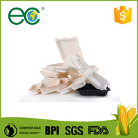 Disposable and biodegradable corn starch plastic lunch box