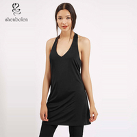 Ladies V Neck Tunic Design for Long Blouses with Sleeveless China Supplier OEM