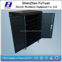 Doule open door 50 unit tabletPC storage & charging cart with fans