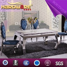 2015 new style dining table marble Italian table