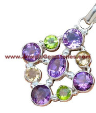 Casting Designs Silver Jewellery, Gemstone Garnet 925 Sterling Silver Pendant, Silver Jewellery