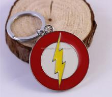 2015 Hot sell Marvel Metal keychains keyring the flash wholesale