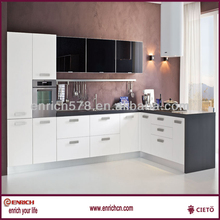 PVC cabinet kitchen with Germany vaccum machine(wood grain,mat,high gloss)