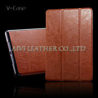Premium leather with stand function folding case for ipad mini