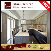 SKB2370 Veneered Face/ PVC MDF Door Modern Kitchen Designs Kitchen Cabinet