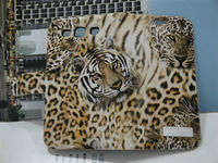 Leopard pattern case wallet leather case for samsung s3 i9300