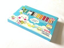 12 Colours Crayon pens with great smoothness and bright colors