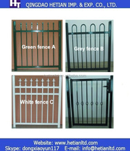 Powder Coated Metal Yard Gate Steel Pipe Gate Fence Producting