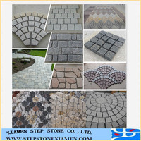 Good quality meshed fan shape granite paving stone