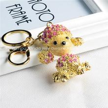 Fashion In Stock Wholesale Crystal Mini Teddy Bear Keyring , Key Chain , Keychain S0070
