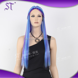 Hot sale mixed color long cosply wig for holiday party