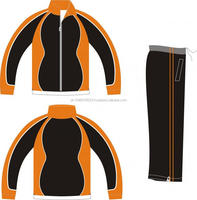 Black & Orange Feshion Tracksuit Hot selling OEM customized sublimation tracksuit