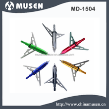 Professional Archery bow and arrow series, 2 Blades Colorful Mechanical replaceable broadhead, target point