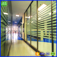 cheap aluminium office partition glass wall manufacture