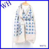 Hot new products for 2015 yarn fake fur pom poms pse japan free pom tube letter print scarf,my own digital printing scarf