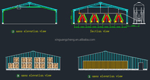 prefabricated pre-made fast building steel structure warehouse building price in china
