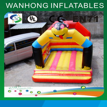 Qualified professional inflatable bounce bed castle with slide, fantastic inflatable bouncy bed for inflatable castle