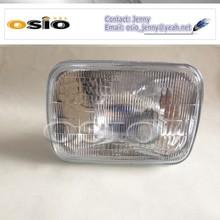 200 head light 7' square Auto light Halogen Sealed Beam H4 HEADLIGHT 12V/24V